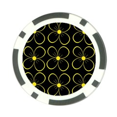 Yellow flowers Poker Chip Card Guards