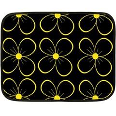 Yellow flowers Fleece Blanket (Mini)