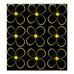 Yellow flowers Shower Curtain 66  x 72  (Large)