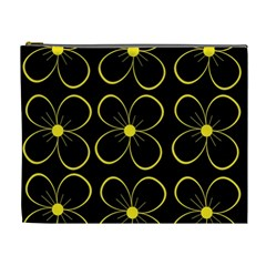 Yellow flowers Cosmetic Bag (XL)