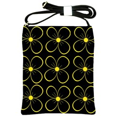Yellow flowers Shoulder Sling Bags