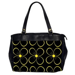 Yellow flowers Office Handbags (2 Sides)