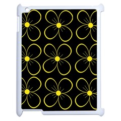 Yellow flowers Apple iPad 2 Case (White)