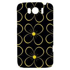 Yellow flowers HTC Sensation XL Hardshell Case