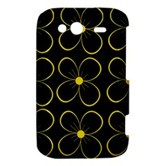 Yellow flowers HTC Wildfire S A510e Hardshell Case