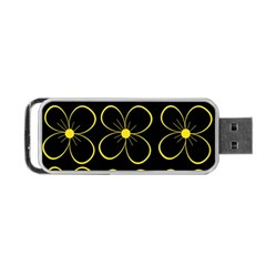 Yellow flowers Portable USB Flash (One Side)