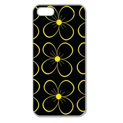 Yellow flowers Apple Seamless iPhone 5 Case (Clear)