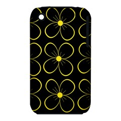 Yellow flowers Apple iPhone 3G/3GS Hardshell Case (PC+Silicone)