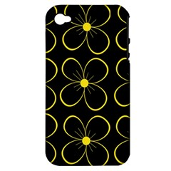 Yellow flowers Apple iPhone 4/4S Hardshell Case (PC+Silicone)