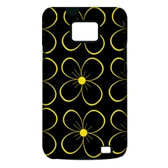 Yellow flowers Samsung Galaxy S II i9100 Hardshell Case (PC+Silicone)