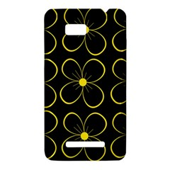 Yellow flowers HTC One SU T528W Hardshell Case