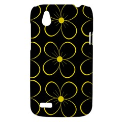 Yellow flowers HTC Desire V (T328W) Hardshell Case