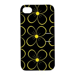 Yellow flowers Apple iPhone 4/4S Hardshell Case with Stand