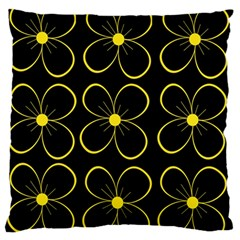 Yellow flowers Standard Flano Cushion Case (One Side)