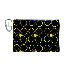 Yellow flowers Canvas Cosmetic Bag (M)