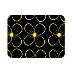 Yellow flowers Double Sided Flano Blanket (Mini)