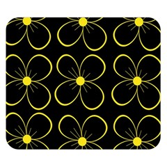 Yellow Flowers Double Sided Flano Blanket (small)