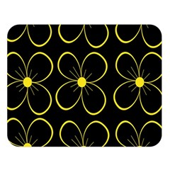 Yellow flowers Double Sided Flano Blanket (Large)
