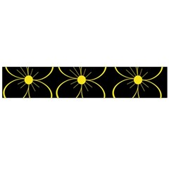 Yellow flowers Flano Scarf (Large)