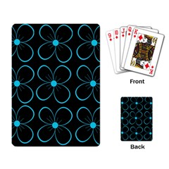 Blue flowers Playing Card