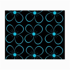 Blue flowers Small Glasses Cloth (2-Side)