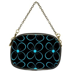 Blue flowers Chain Purses (One Side)