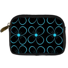 Blue flowers Digital Camera Cases