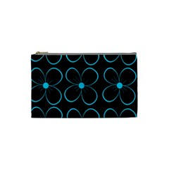 Blue flowers Cosmetic Bag (Small)
