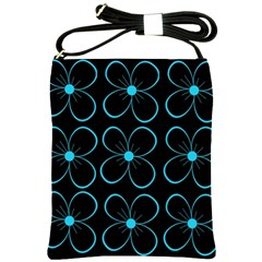 Blue flowers Shoulder Sling Bags
