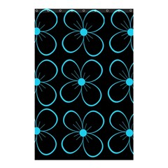 Blue flowers Shower Curtain 48  x 72  (Small)