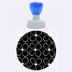 Blue flowers Rubber Round Stamps (Large)