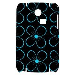 Blue flowers Samsung S3350 Hardshell Case