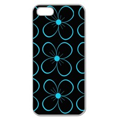 Blue flowers Apple Seamless iPhone 5 Case (Clear)