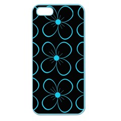 Blue flowers Apple Seamless iPhone 5 Case (Color)