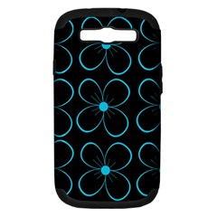 Blue flowers Samsung Galaxy S III Hardshell Case (PC+Silicone)