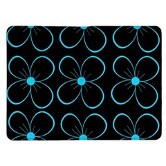 Blue flowers Kindle Fire (1st Gen) Flip Case
