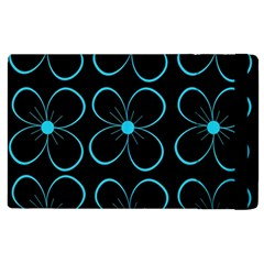 Blue flowers Apple iPad 3/4 Flip Case
