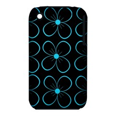 Blue flowers Apple iPhone 3G/3GS Hardshell Case (PC+Silicone)