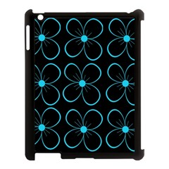 Blue flowers Apple iPad 3/4 Case (Black)