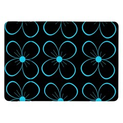 Blue flowers Samsung Galaxy Tab 8.9  P7300 Flip Case