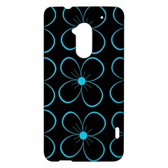 Blue flowers HTC One Max (T6) Hardshell Case