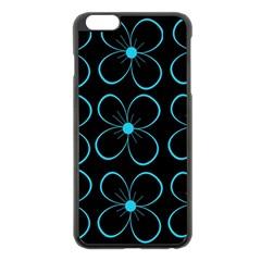 Blue flowers Apple iPhone 6 Plus/6S Plus Black Enamel Case