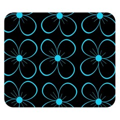 Blue flowers Double Sided Flano Blanket (Small)
