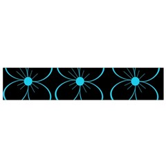 Blue flowers Flano Scarf (Small)