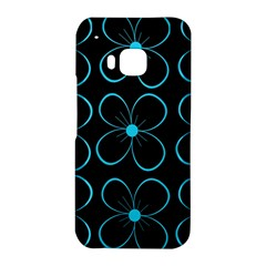 Blue flowers HTC One M9 Hardshell Case