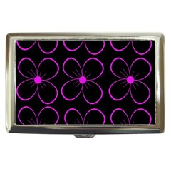 Purple floral pattern Cigarette Money Cases