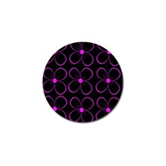 Purple floral pattern Golf Ball Marker (4 pack)