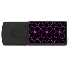 Purple floral pattern USB Flash Drive Rectangular (2 GB)