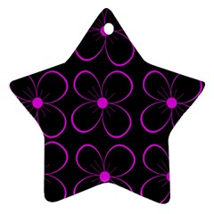 Purple floral pattern Star Ornament (Two Sides)