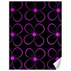 Purple floral pattern Canvas 18  x 24